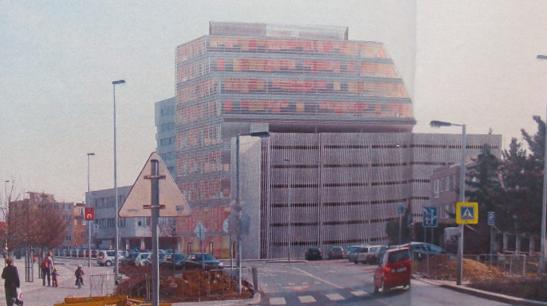 První televizní reportáž o Parkovacím pavilonu Budějovická